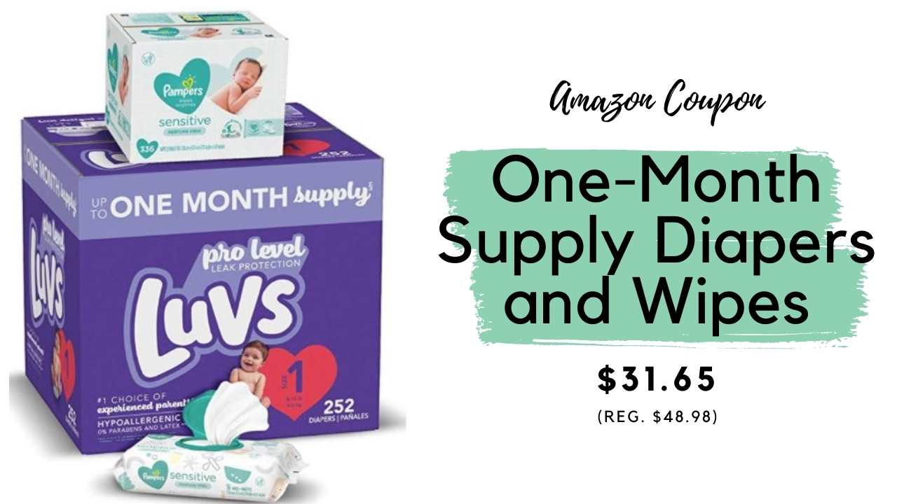 amazon coupon diapers and wipes