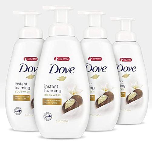 dove foaming body wash