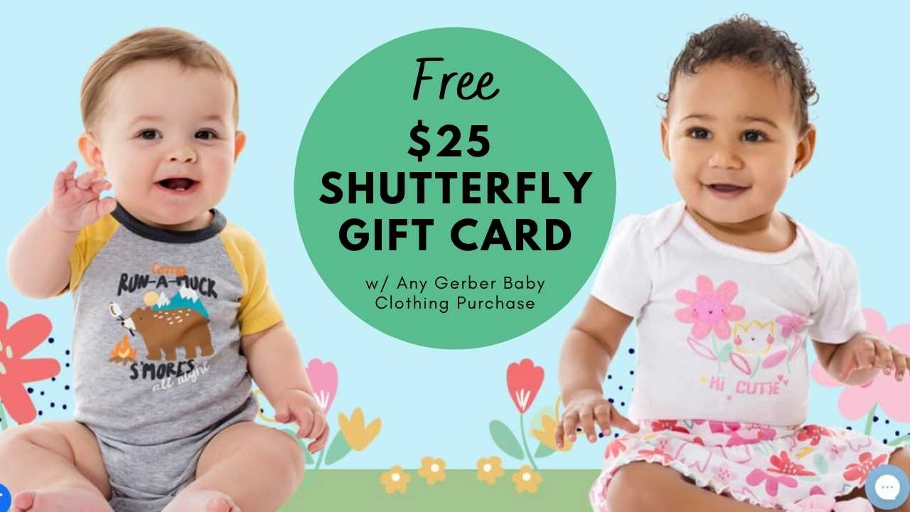 gerber baby clothing free shutterfly gift card
