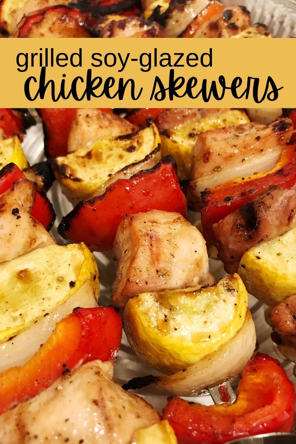 grilled soy-glazed chicken skewers