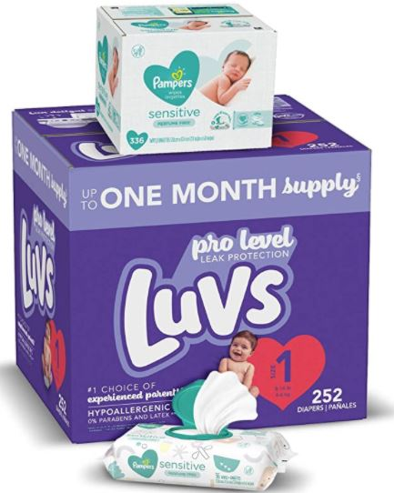 luvs diapers and pampers wipes