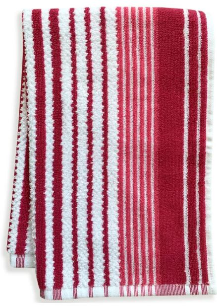 red striped towel