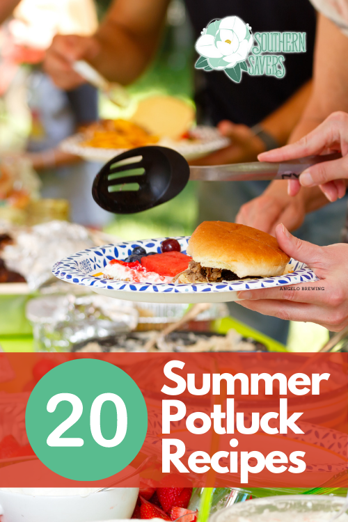 Going to a picnic this summer? One of these light and delicious 20 summer potluck recipes—sides and desserts—will be perfect to take along!