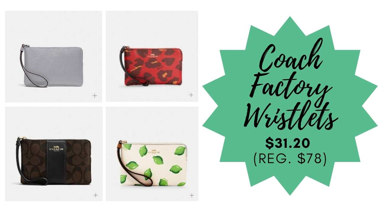 coach factory wristlets