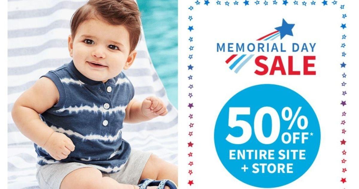 memorial day sale at carter's