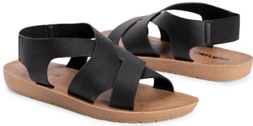 muk luks black sandals