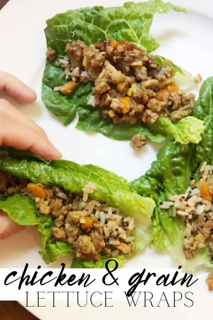 chicken and grain lettuce wraps pinterest