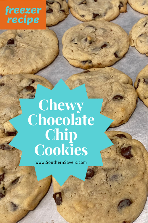 Never be without cookies when you make this chewy chocolate chip cookie recipe. Eat some warm out of the oven now and freeze some for later!