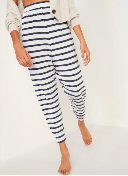 high waisted pajama pants
