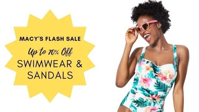 swimwear & sandals sale