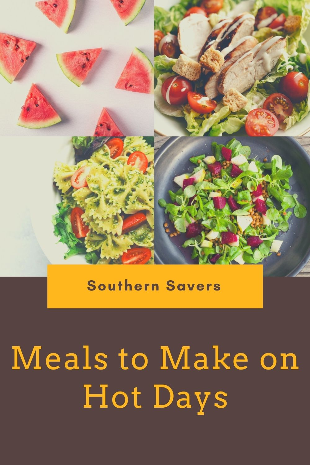 Meals To Make On Hot Days
