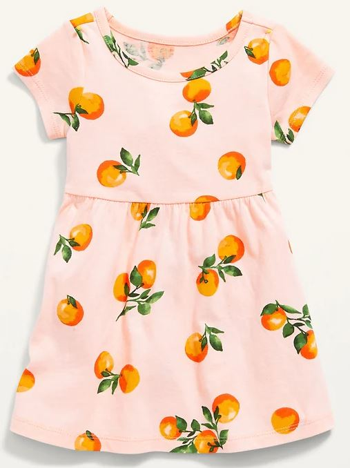 printed dress for baby