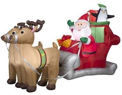 santa sleigh inflatable