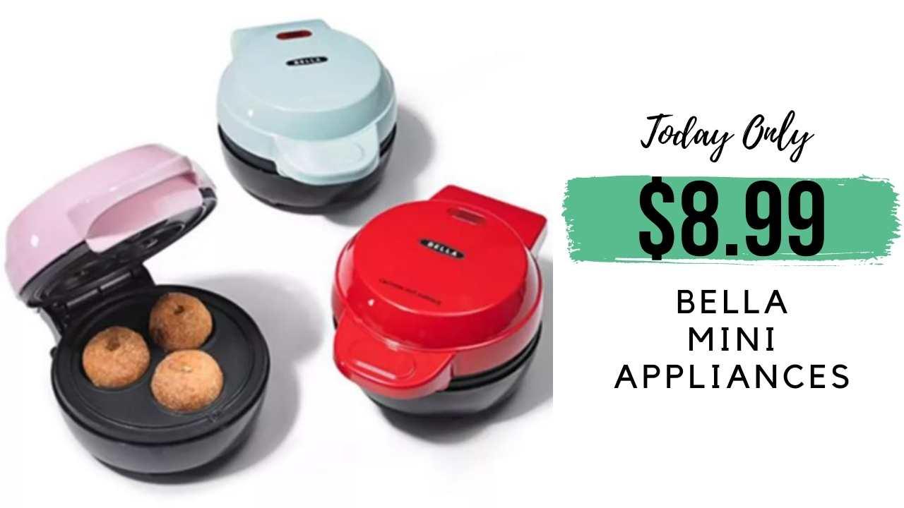bella mini waffle maker and more