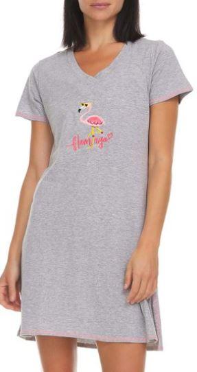 flamingo pajama dress