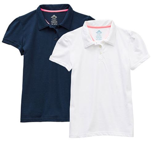 two pack of girl polos