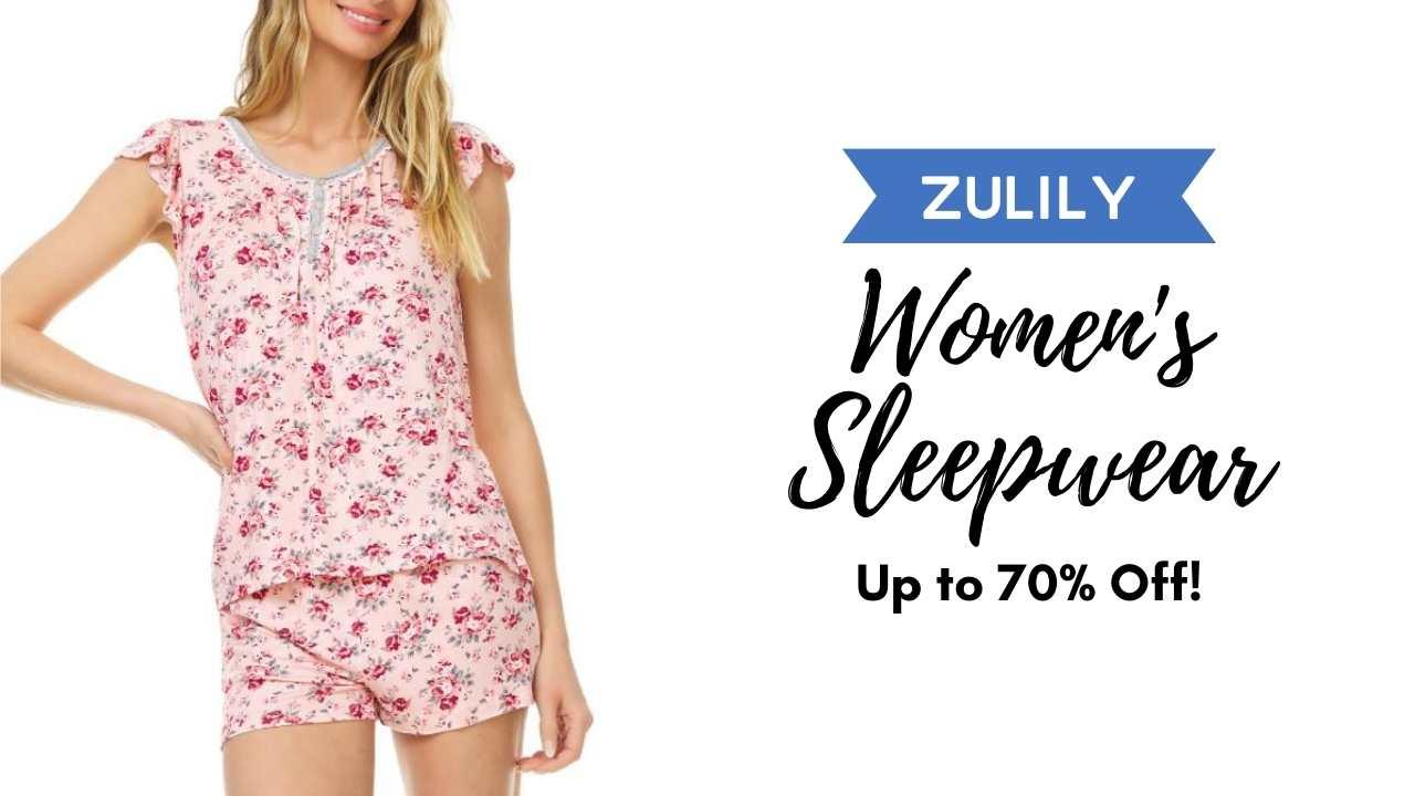 zulily sleepwear