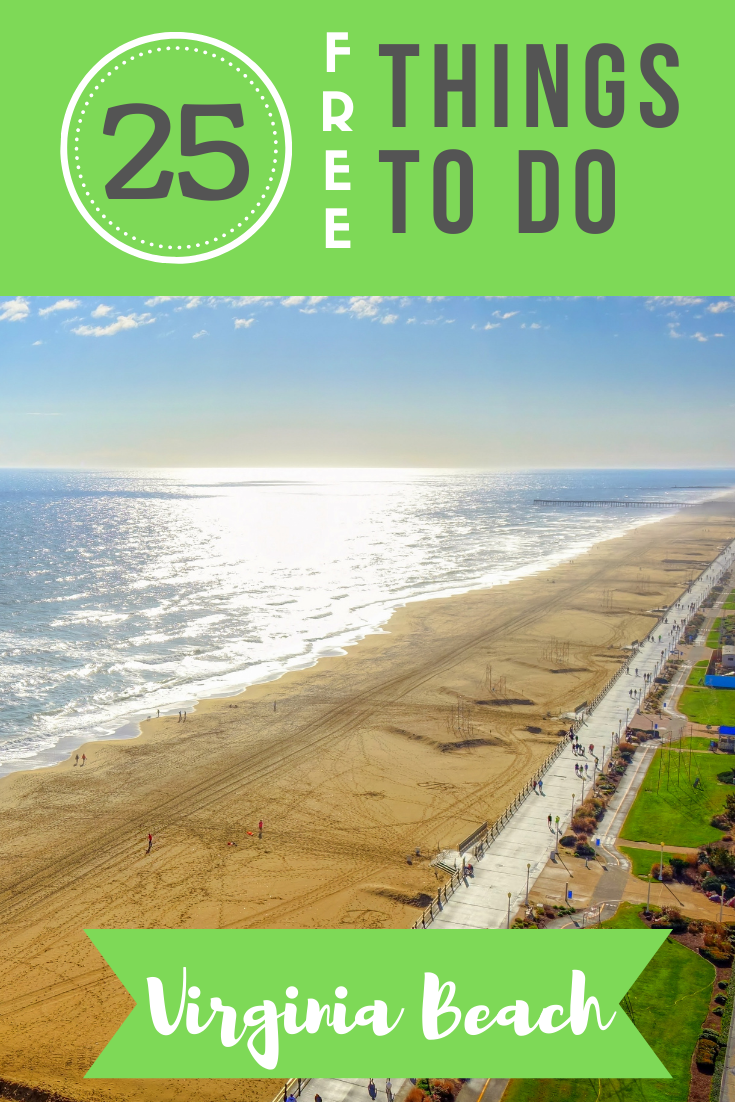Headed to the East Coast this summer? Check out this list of 25 free things to do in Virginia Beach, from museums to wildlife viewing!