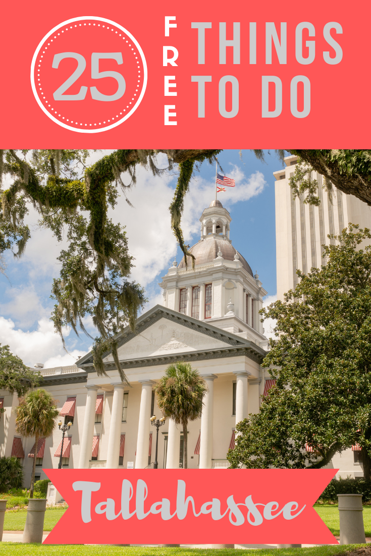 Planning to visit the Florida Panhandle in the near future? Check out this list of 25 cheap or free things to do in Tallahassee!