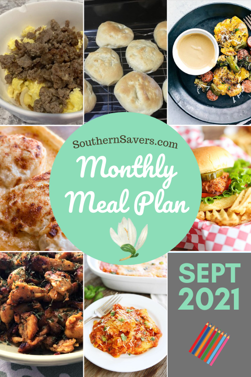 September is here, and that means a new monthly meal plan. Here is a real life look at what our family will be eating this month!