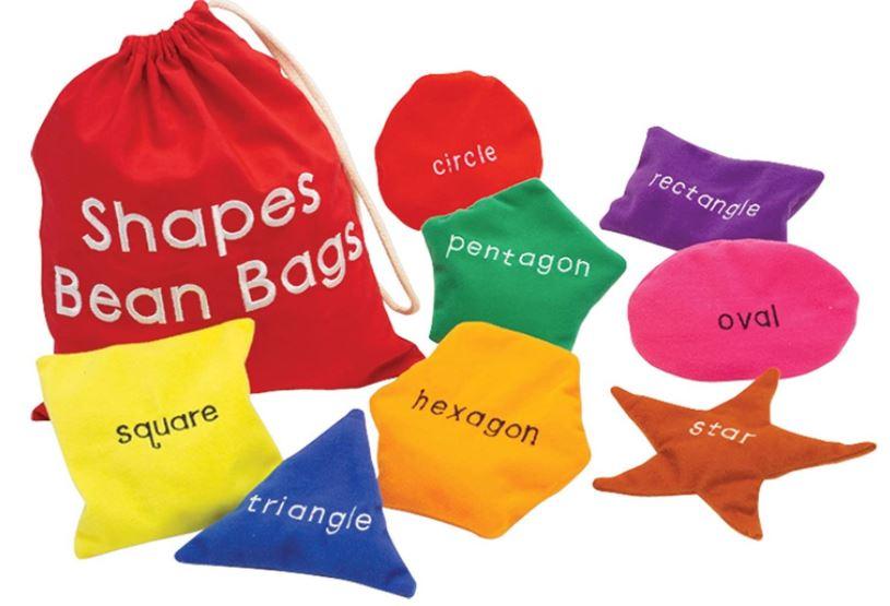 shape sorting bean bags