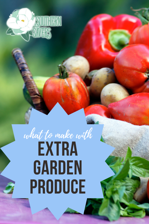 If your garden is giving you fruits and vegetables out your ears, see these delicious ideas for what to make with extra garden produce!