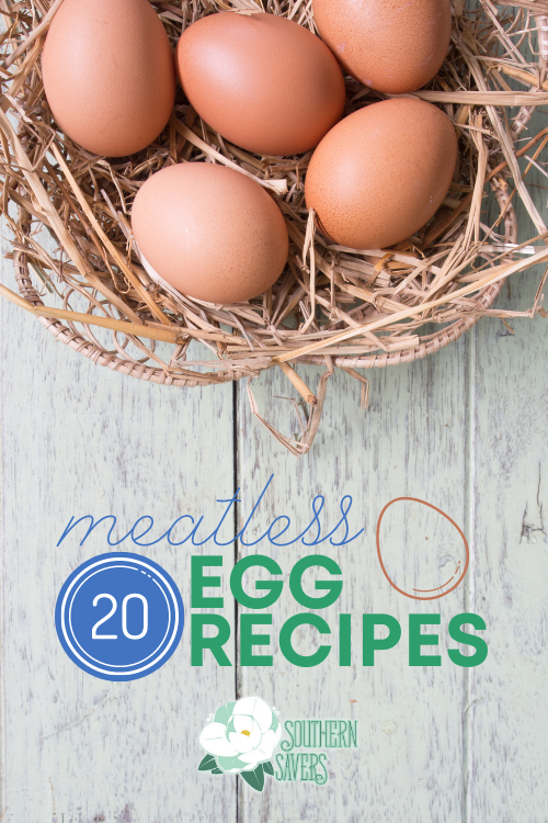 With meat prices soaring, eggs are still a cheap and frugal option. You could eat these 20 meatless egg recipes any time of day!