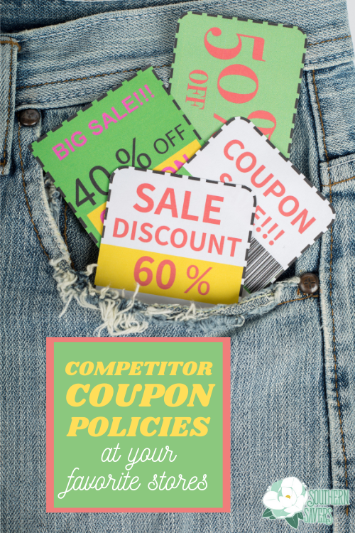 Here is a comprehensive list of the competitor coupon policies at your favorite stores, as well as a list of places that don't accept them!