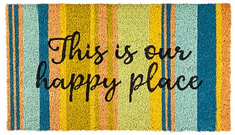 happy place mat