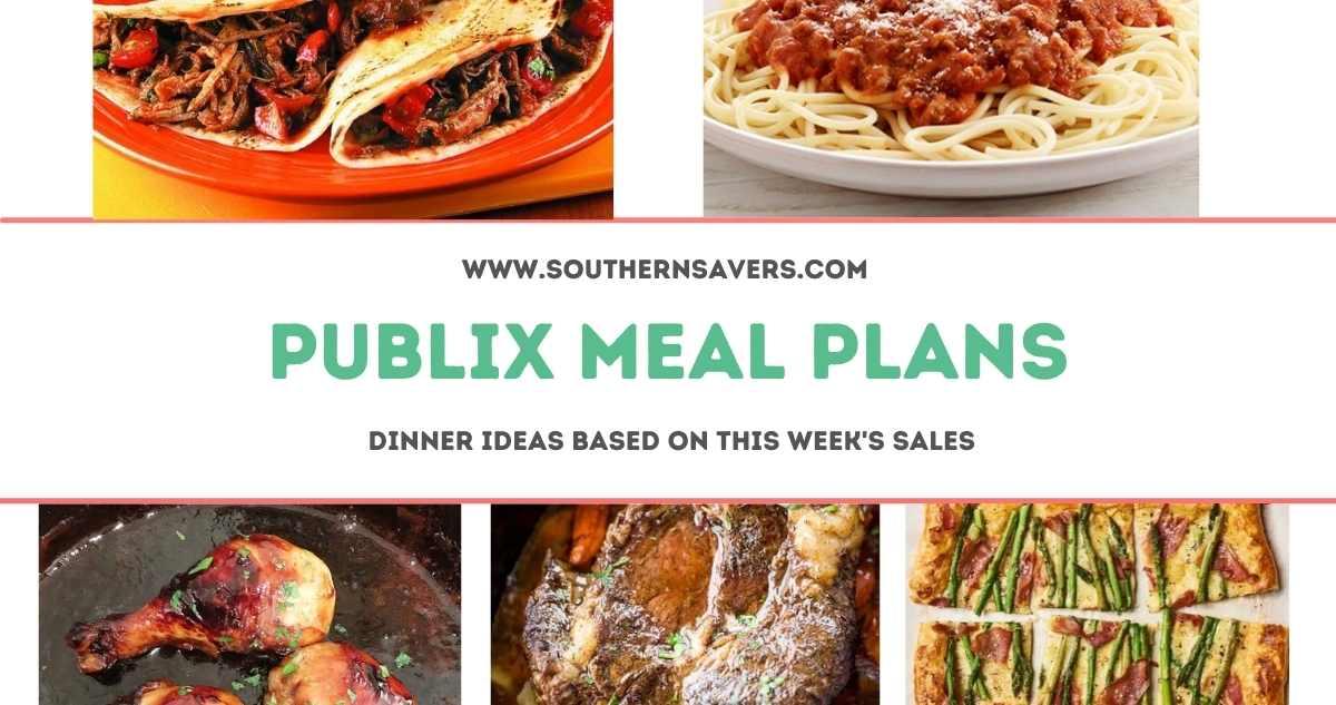 publix meal plans 9/22