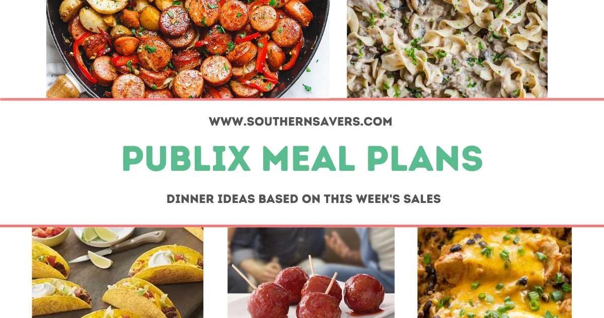 publix meal plans 9/8
