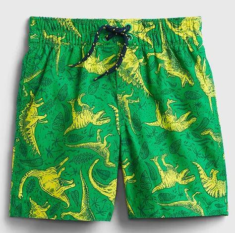 dino swim trunks