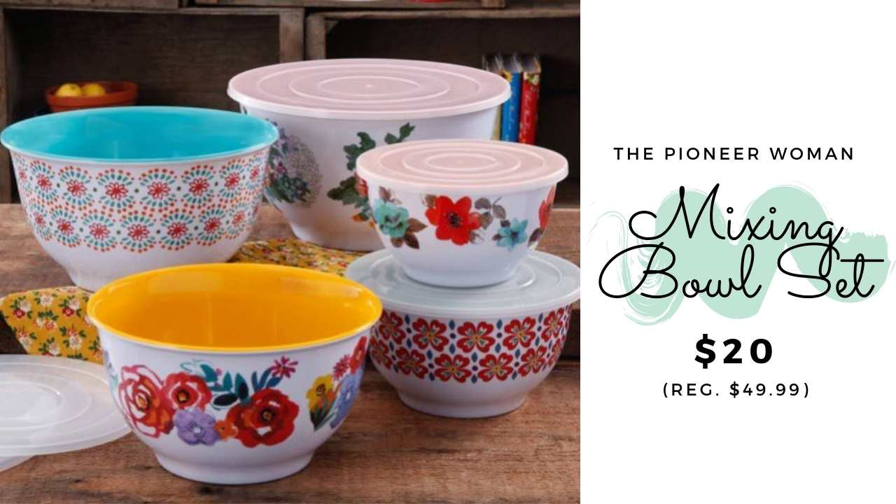 pioneer woman mixing bowl set